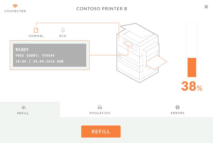 Web-based printer emulator