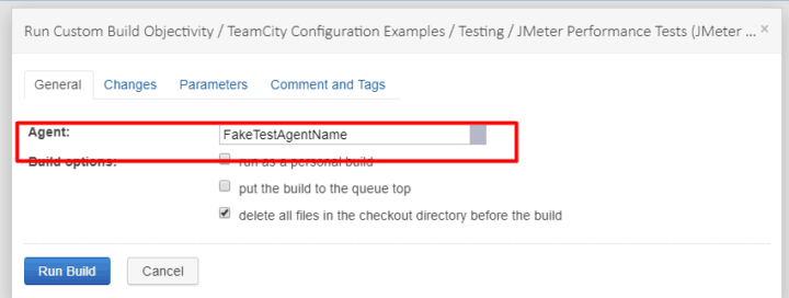 How to select test agent to run