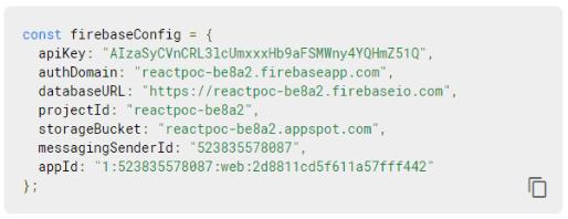 Firebase configuration scripts