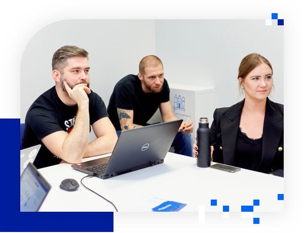 Group of developers
