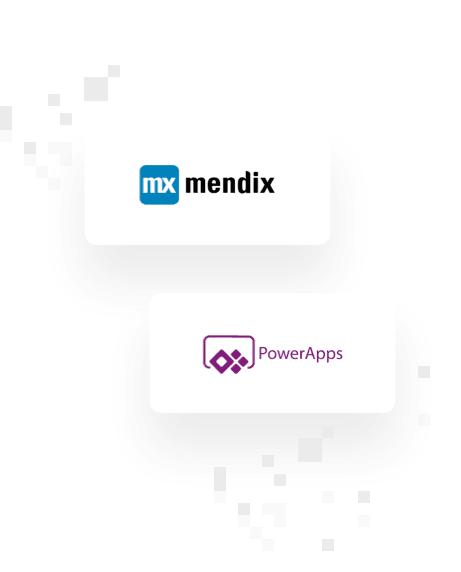 Mendix and PowerApps logos